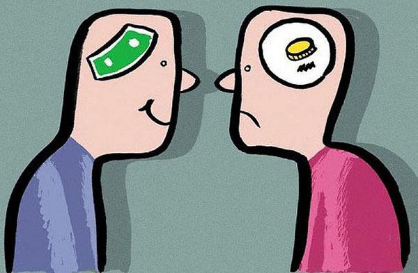 различие между бедными и богатыми