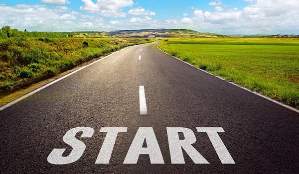 road begins at start